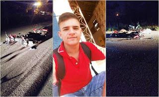 Colisão frontal entre duas motos deixa um jovem morto e outro ferido na PB-073 sentido Guarabira-Pirpirituba