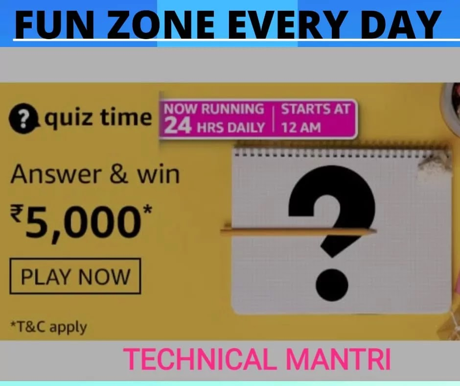 Amazon quiz answers today for 29th March 2021: Win 5000