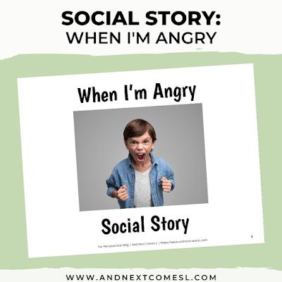 Anger social story for kids