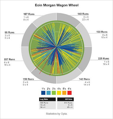 Eoin Morgan wagon wheel.