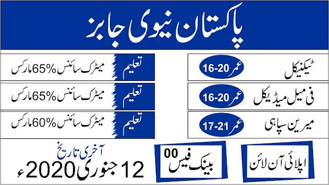 JOIN PAK NAVY 2020 JOBS IN PAKISTAN