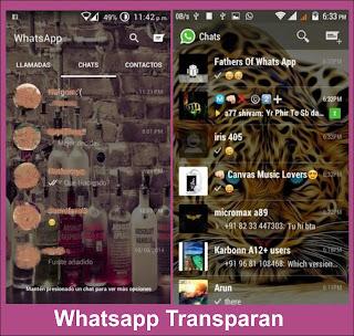 whatsapp transparan versi baru