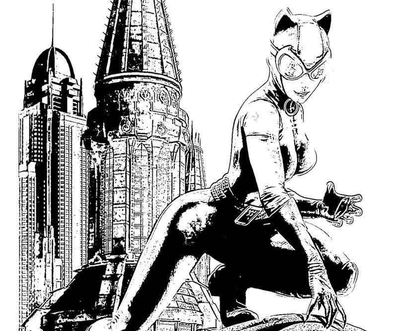 Batman Arkham City Catwoman Art Yumiko Fujiwara