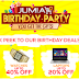 Jumia Birthday Celebration; Get 80% Off Your Favorite Items