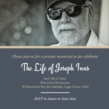 Grieving the loss of my friend, Joseph Inns