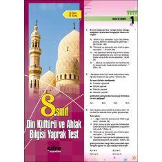 Şifre Yayınları 8.Sınıf Din Kültürü ve Ahlak Bilgisi Yaprak Test
