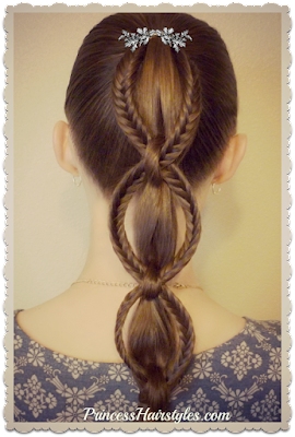 Fishtail chain braid video tutorial.