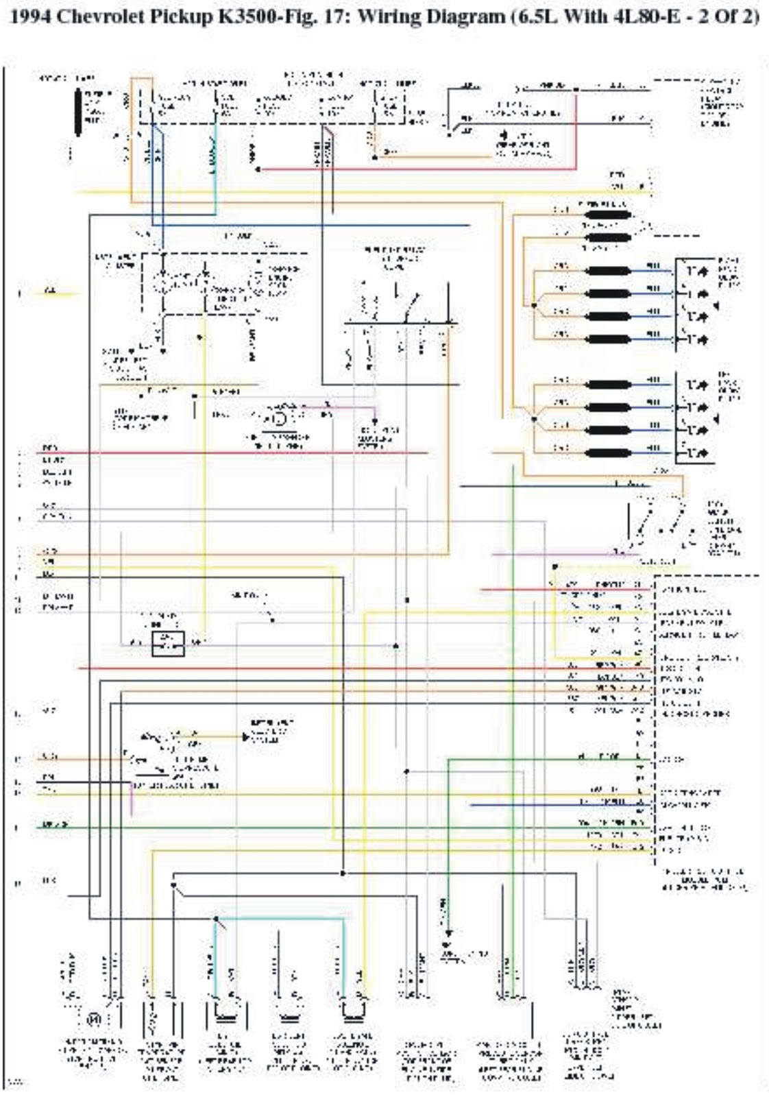 1994 Chevrolet PickUp K3500 Wiring Diagrams | Wiring