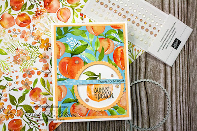 Check out my super easy window card using the Sweet as A Peach Stamp Set from Stampin' Up! Click here to learn more