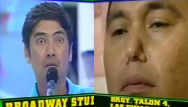 Bossing using his eyebrows as a medium in conducting the band, while Jose used his nose.