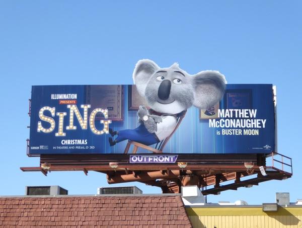Buster Moon Koala Sing movie billboard