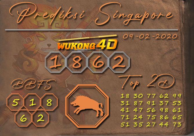 Prediksi Togel SINGAPORE WUKONG4D 09 FEBRUARI 2020