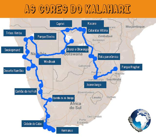 ROTEIRO DE VIAGEM na África do Sul, Namíbia, Botswana e Zimbábue