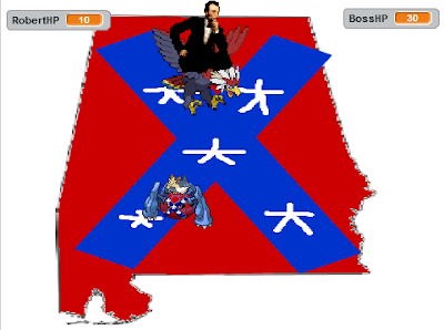 Abraham Lincoln Braviary Capture the Confederate Flag game Work Up Alabama