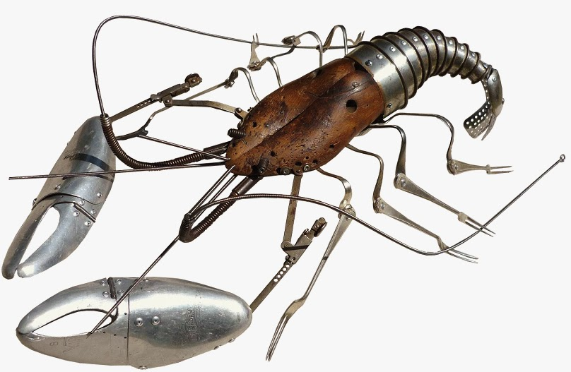 12-Lobster-Sculptor-Recycled-Animal-Sculptures-Dean-Patman-Graphic-Design-www-designstack-co