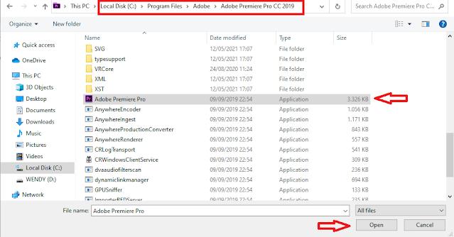 Pilih Adobe Premiere Sekali Lagi Untuk Mengatasi Scratch Disk Error