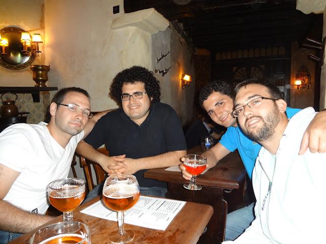 En una cervecería de Bruselas