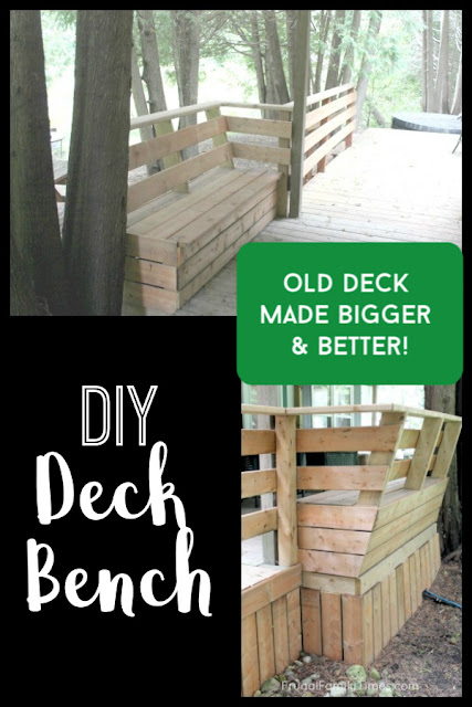 deck bench seat diy