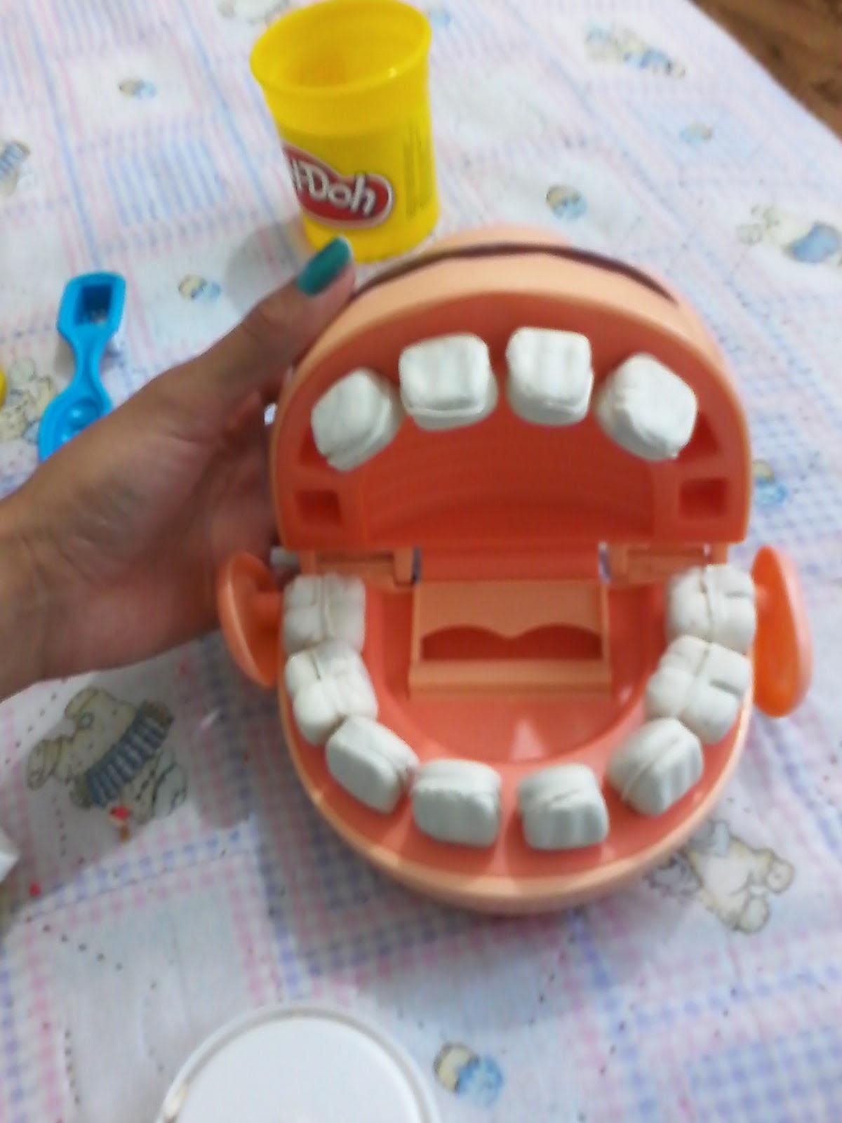 como hacer dientes entrap plastilina