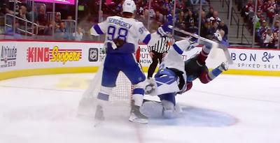 nhl hockey fight Curtis McElhinney