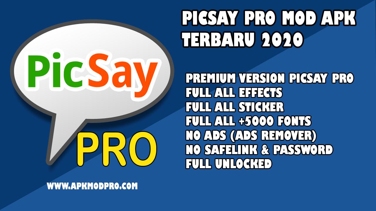 PicSay Pro MOD APK [Full Unlocked] Gratis Terbaru 2020