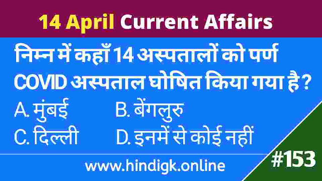 14 April 2021 Current Affairs In Hindi