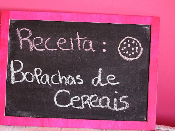 Receita - Bolachas de Cereais