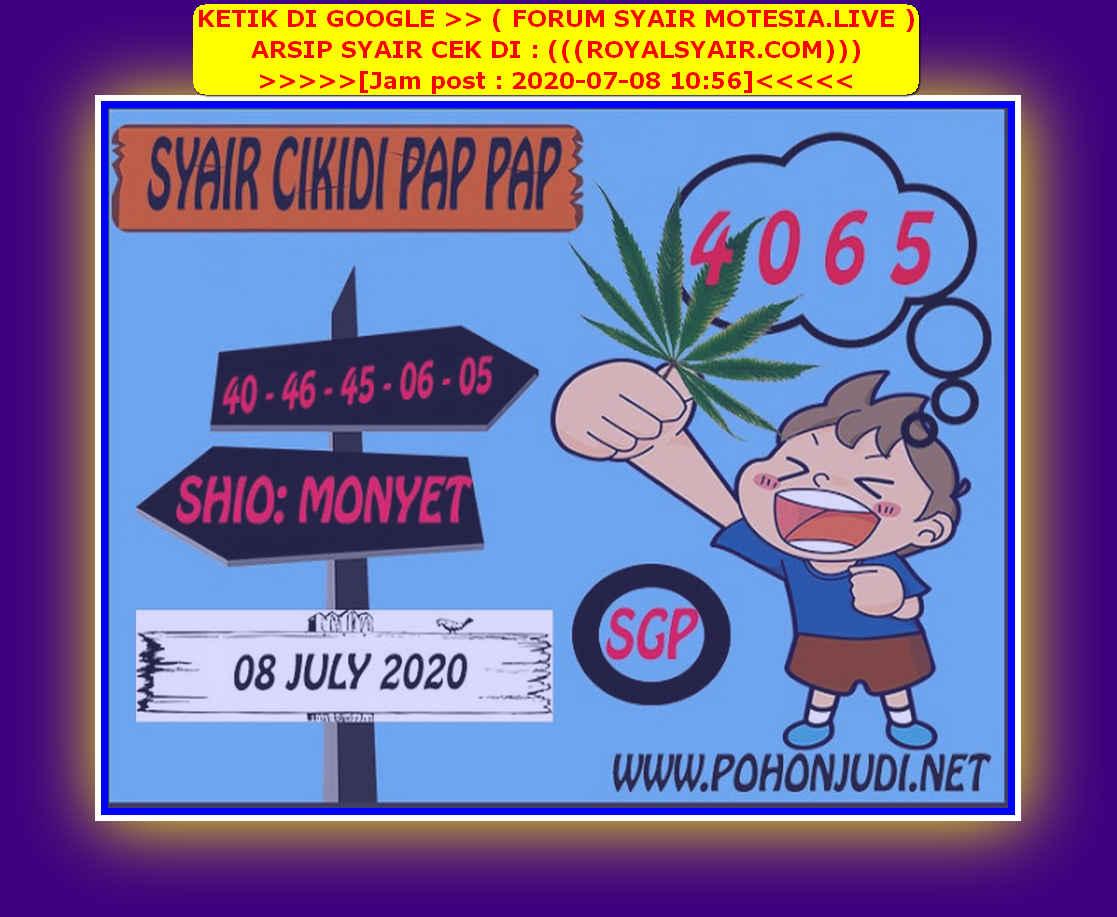 Kode syair Singapore Rabu 8 Juli 2020 146