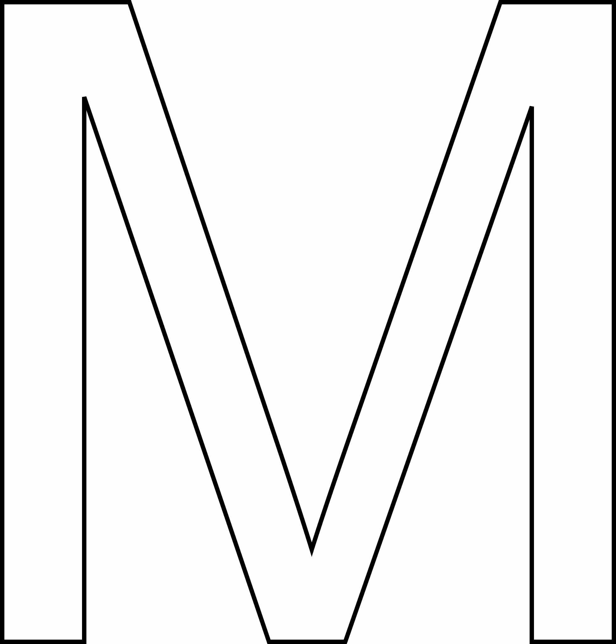 Letra M - maiúscula para imprimir