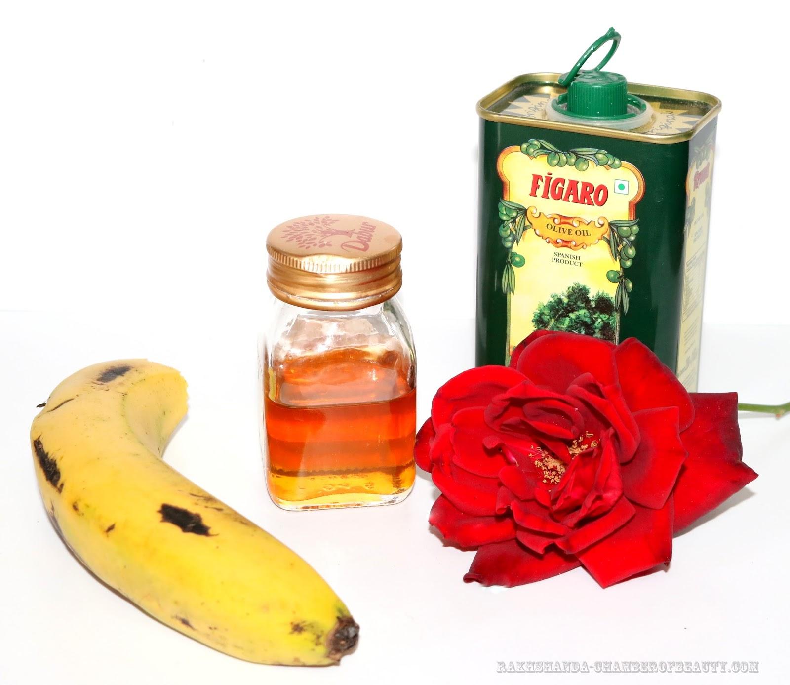 rakhshanda-chamberofbeauty.com/DIY/Banana & Rose Petals Face Pack for Dry skin