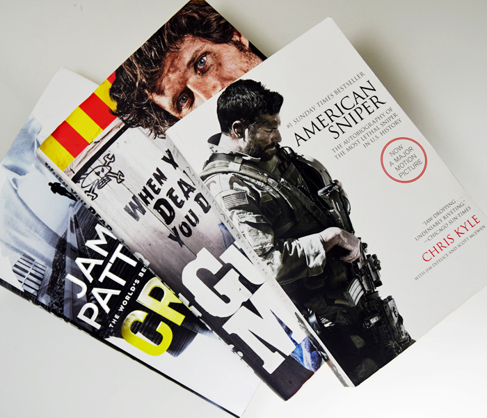 James Patterson, Guy Martin, Chris Kyle