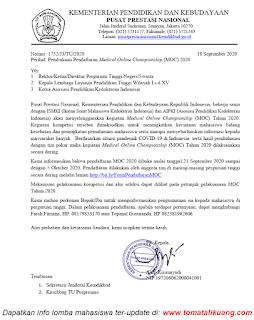 Pendaftaran Medical Online Championship (MOC) Tahun 2020 tomatalikuang.com