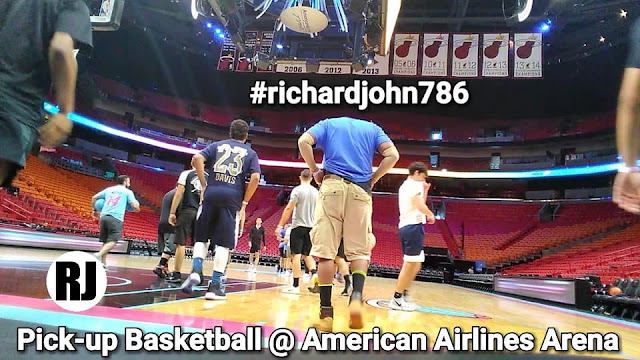 Recap: Pick-up Basketball at American Airlines Arena, Home of the Miami Heat; Presented by: Mountain Dew (#ViceWave); Starring: #richardjohn786