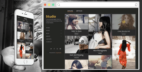 Professional Responsive Blogger Templates   Photography Blogger template