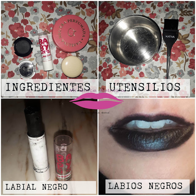 collage labial negro - midolcebelleza