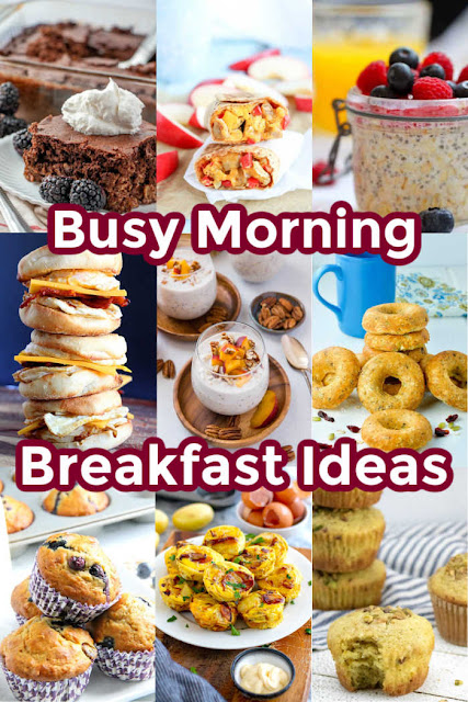 Getting the kids a decent breakfast on the way out the door to go to school is always a challenge.  Luckily we have lots of make ahead inspiration for you so they can have something tasty and nutritious!