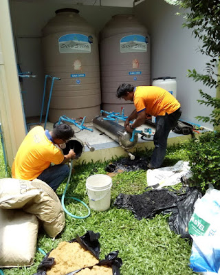 Stainless Steel Water Filtering tanks exchange Resin Carbon Buriram
