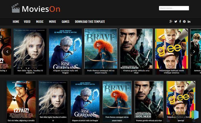 Movies On Blogger Template Plantillas de peliculas para blogger ...