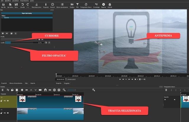 applicare filtro opacità alla immagine del watermark