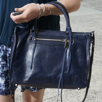 Rebecca Minkoff Regan Satchel Tote in moon | awayfromtheblue