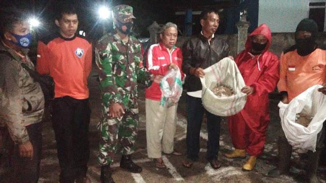 Selamatkan Warga Babinsa Evakuasi Sarang Tawon Jenis Vespa Affinis