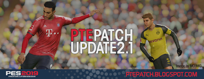 PES 2019 PTE Patch 2019 Update 2.1 Season 2018/2019