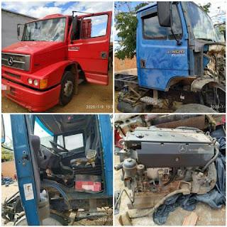 Furto de caminhões em Guanambi