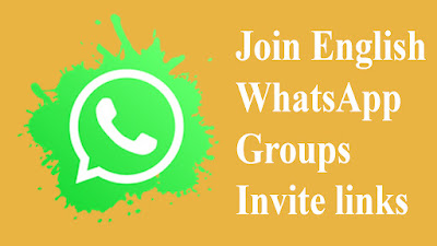 Join English WhatsApp Groups invite links