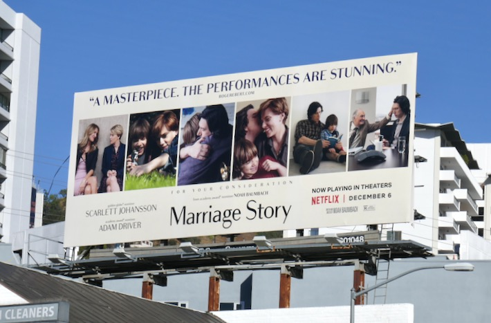 Marriage Story film FYC billboard