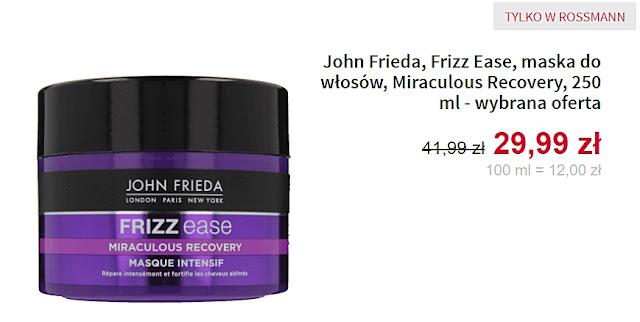 maska do włosów John Frieda