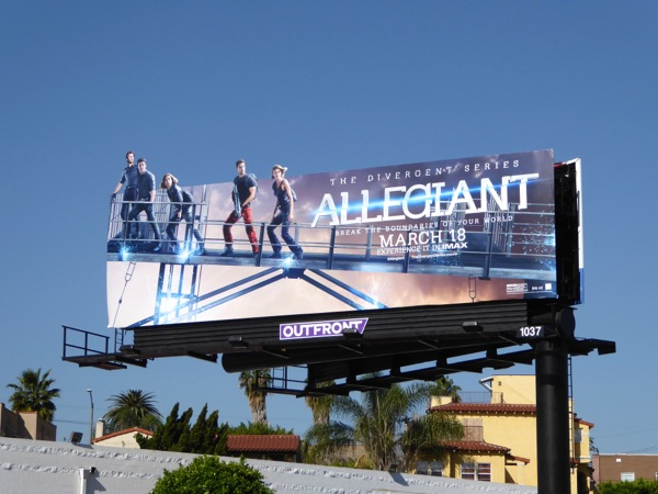 Divergent Allegiant movie billboard