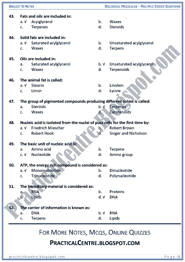 generic biology multiple choice questions Grade 9 exam preparation  has 5-10 multiple choice and true false questions per unit along with  a good generic exam review with diagrams and some higher.