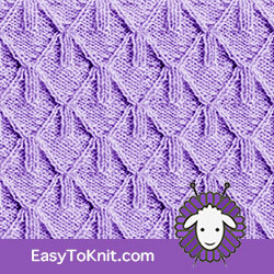 Twist Cable 15: Goyard | Easy to knit #knittingstitches #knittingpattern