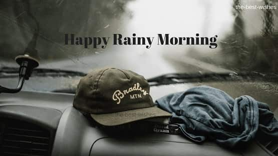 Happy Rainy Morning while driving